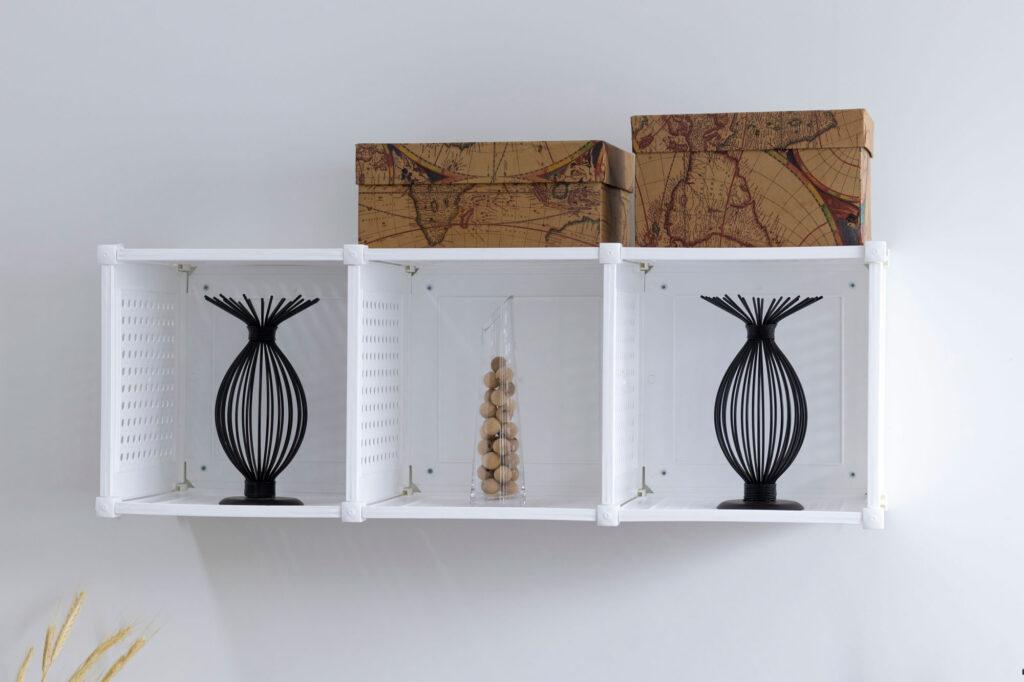 Kit com 3 Nichos Organizadores de ambientes