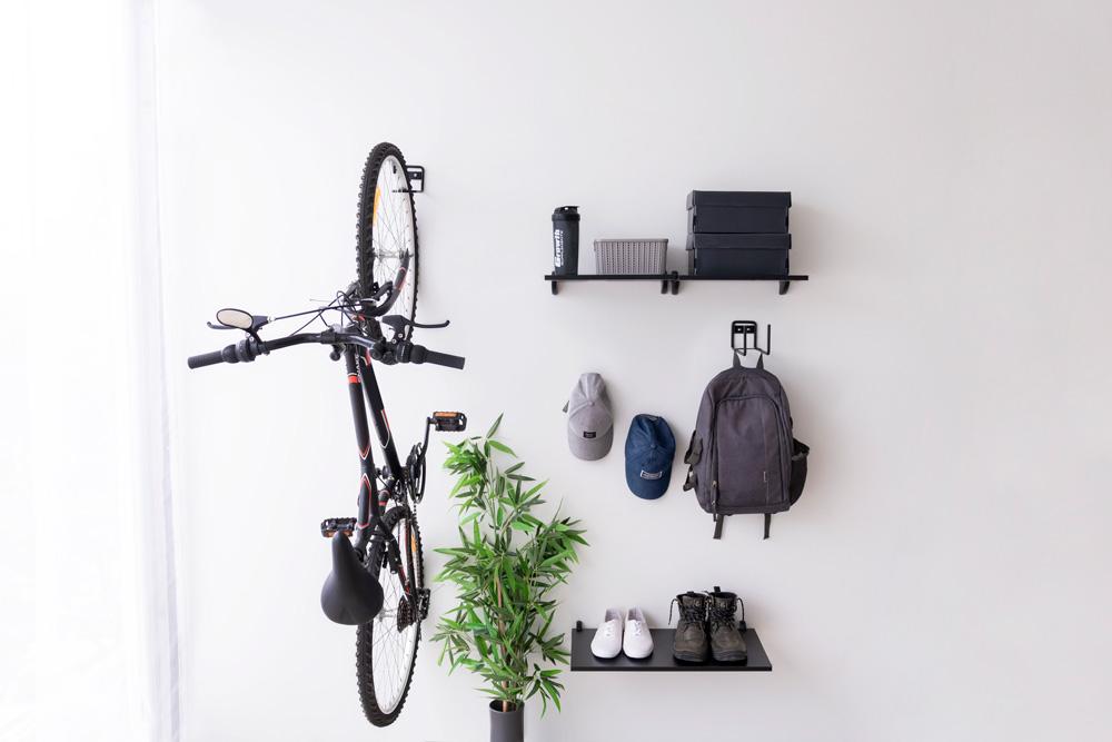 Bicicletas em áreas externas