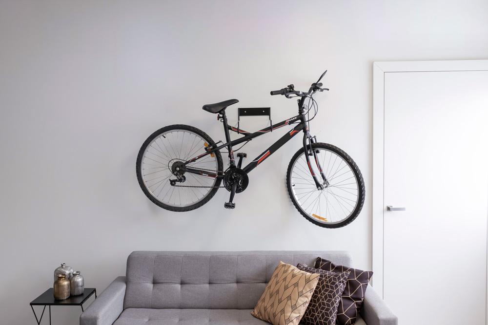 Decoração para sala com bicicleta