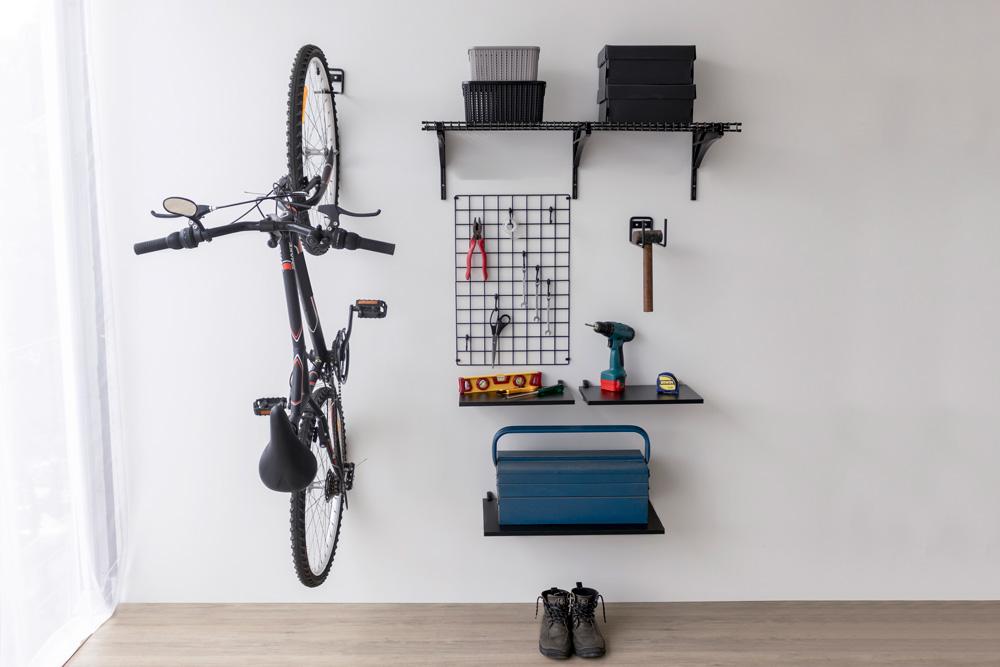 Bicicleta na garagem