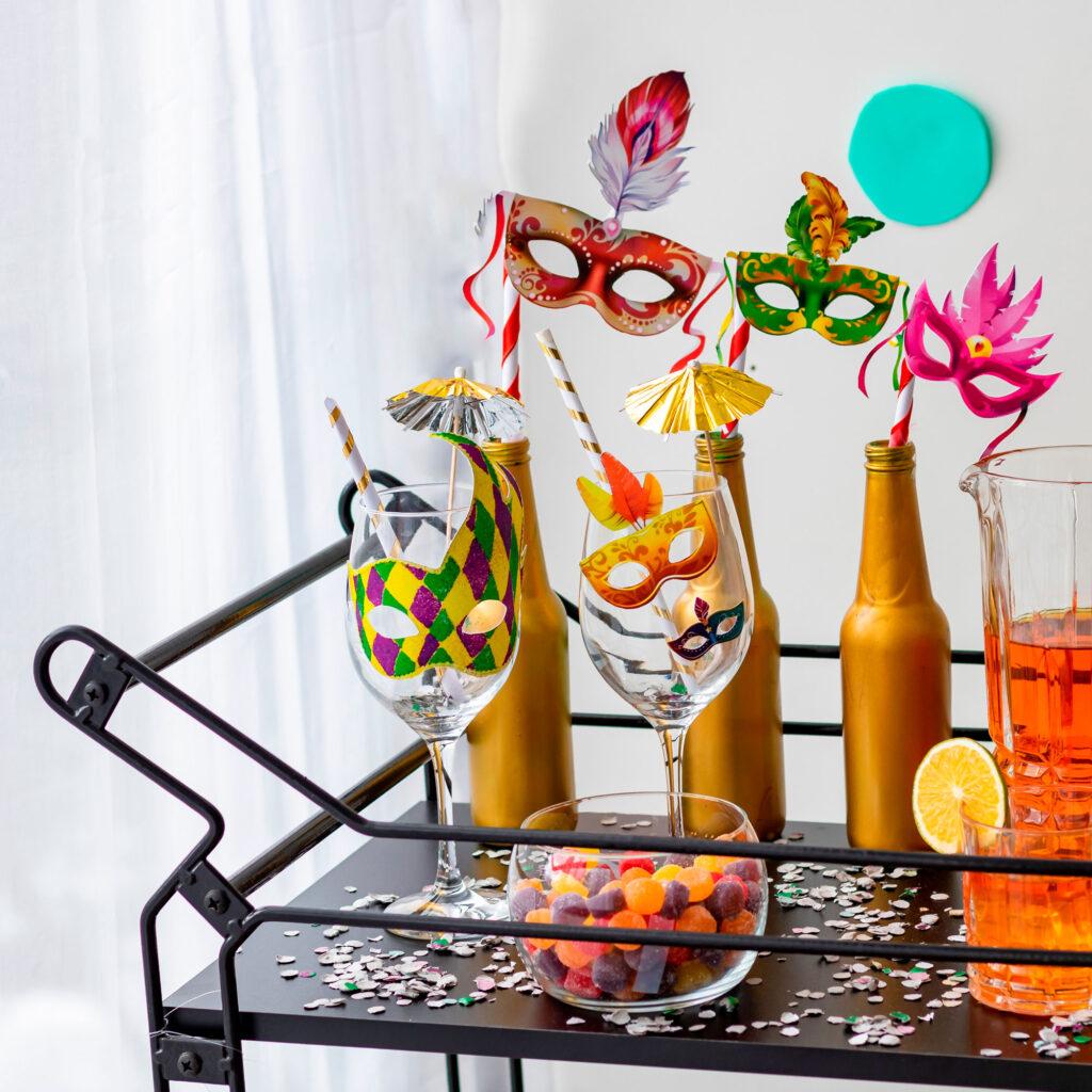 Carrinho de bebidas aramado decorativo Niva