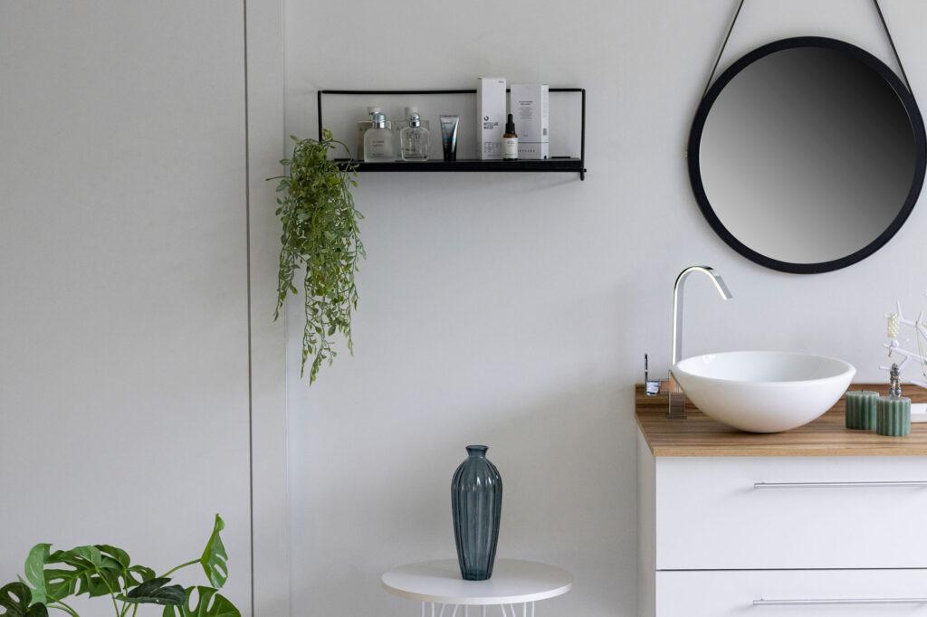 Nicho decorativo para organização do banheiro