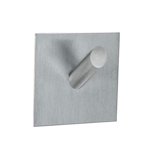 Gancho adesivo em aço inox com formato de Quadrado - Metálico
