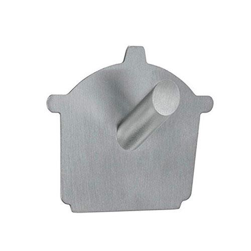 Gancho adesivo em aço inox com formato de panela - Metalico