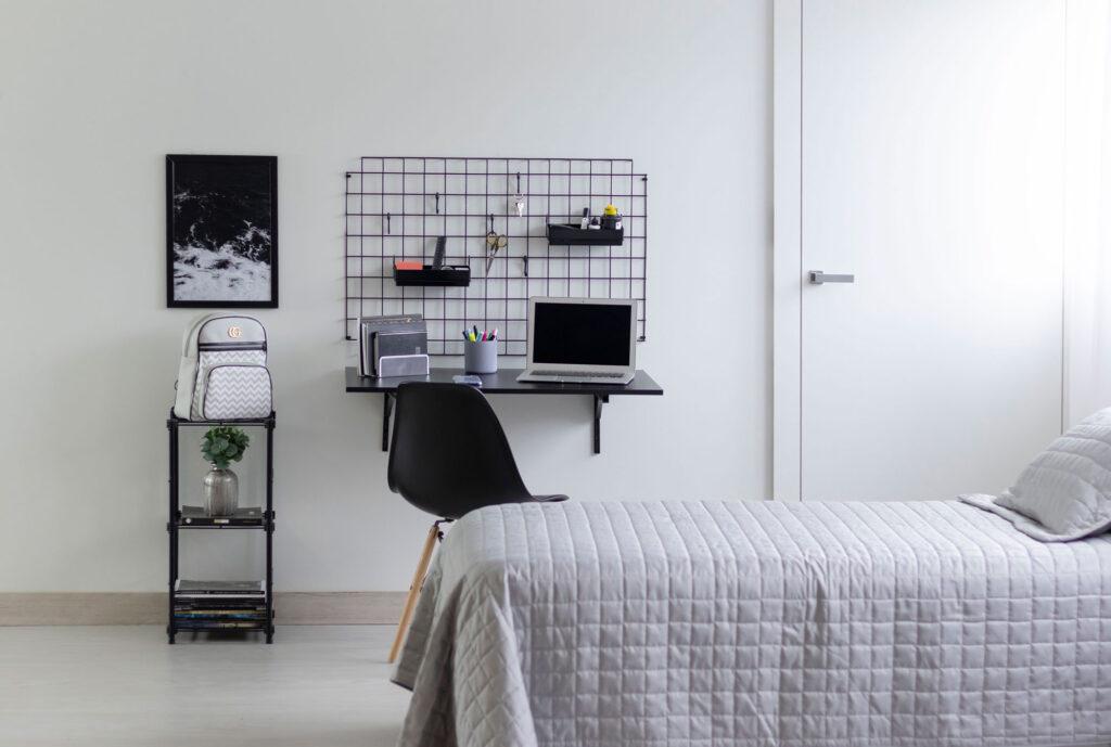 Kit home office com tela aramada