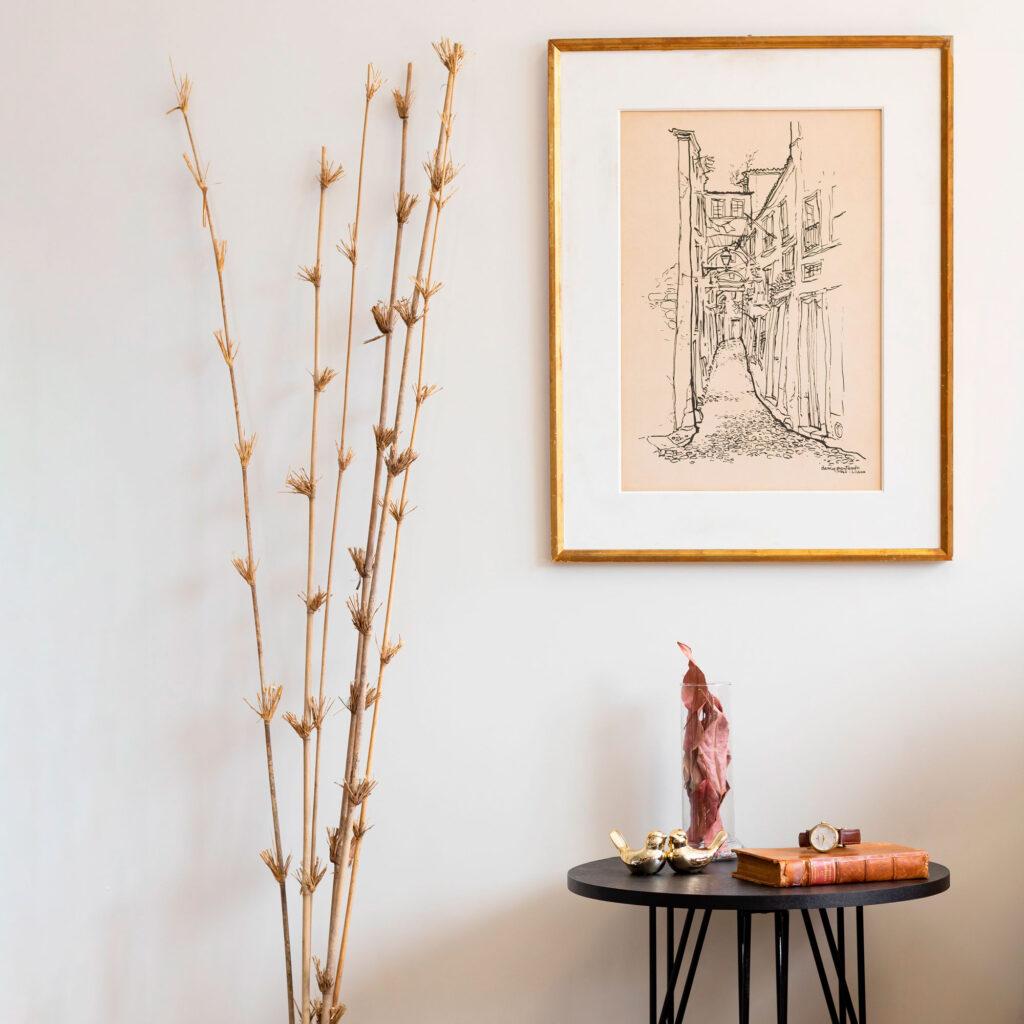 Mesa Lateral Decorativa Aramada Pequena - Niva
