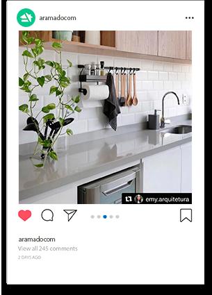 Cook Premium Kit 2 aramado para parede de cozinha