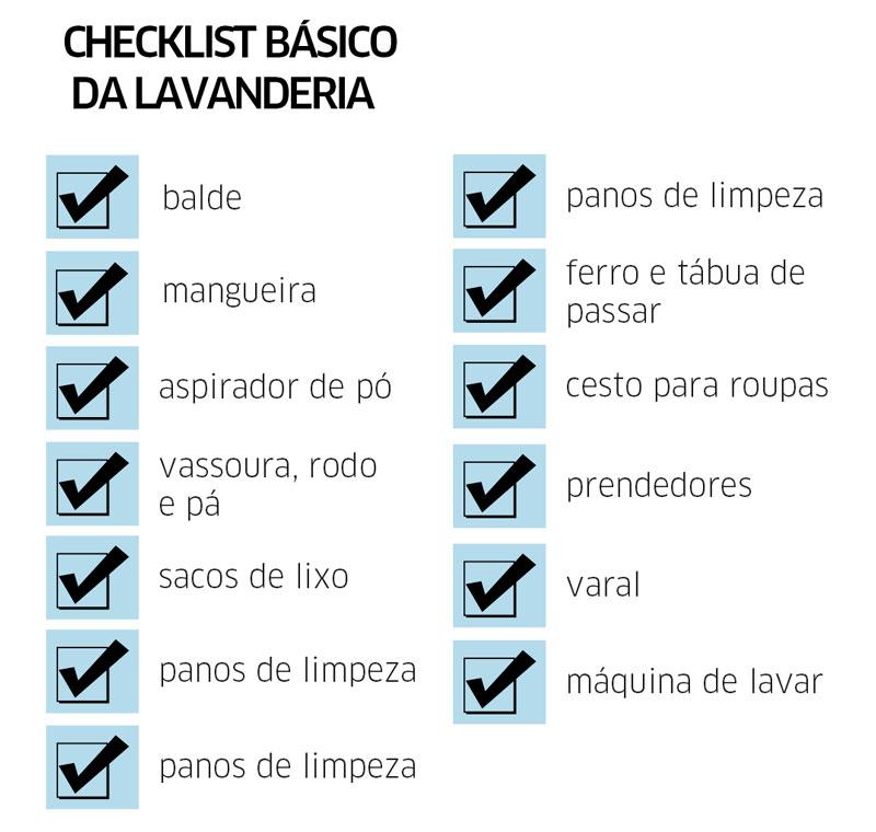 Checklist lavanderia