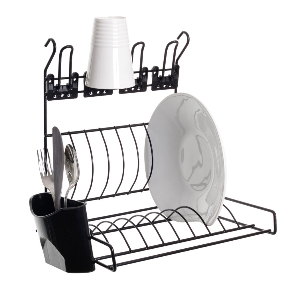 Escorredor de pratos aramado para parede - Linha Cook Premium - Não acompanha barra