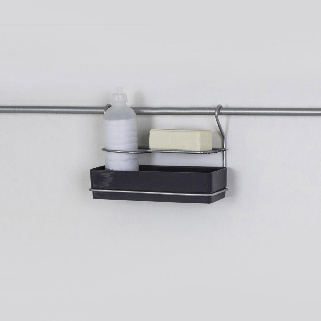 Porta detergente e esponja para parede - Linha Cook Premium - Não acompanha barra