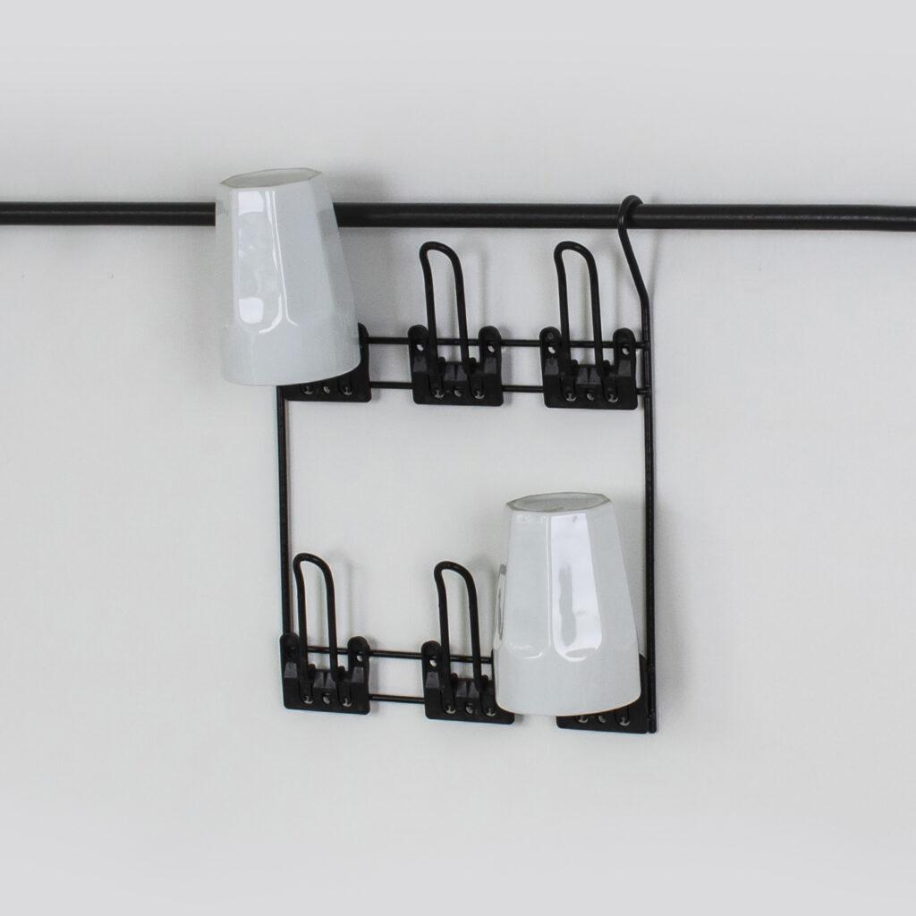 Porta Copos com 6 dispensers - Linha Cook Premium - Não acompanha barra