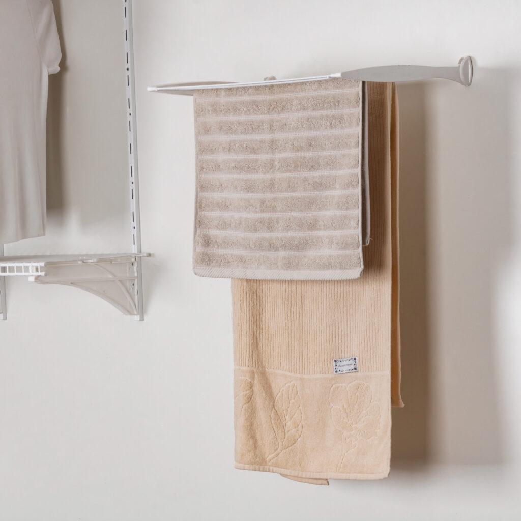 Varal Dobrável Slim para lavanderias pequenas