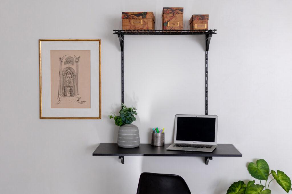 Combo para escritório 1 metro - 2 peças - Home Office na sala de estar