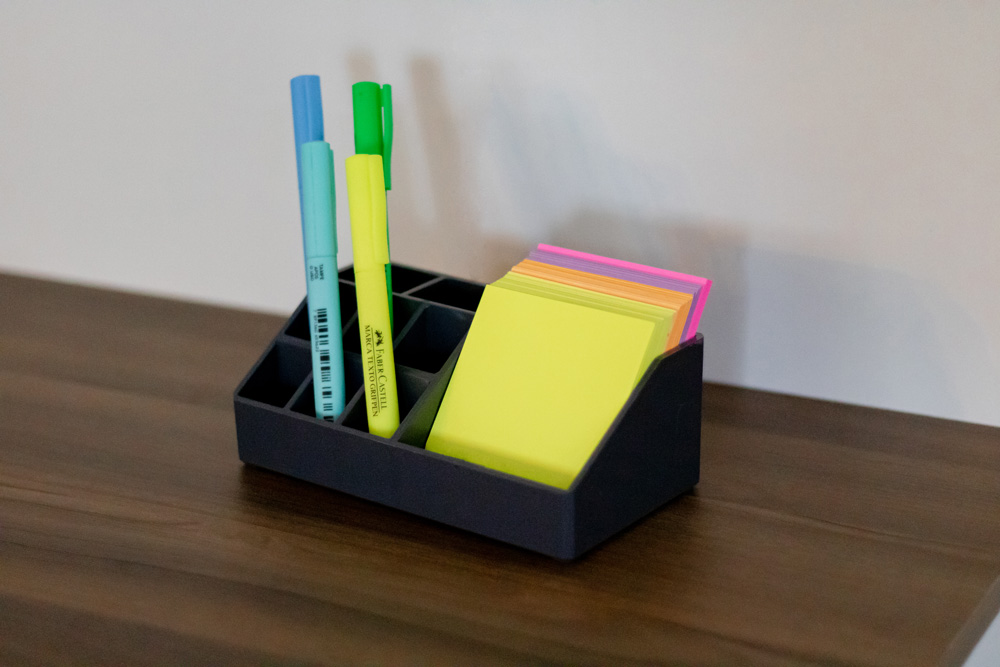 Organizador para mesa de escritório pequeno