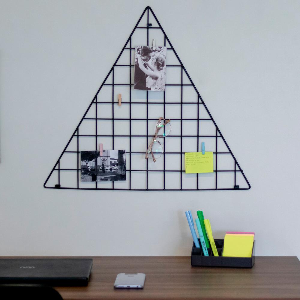 Tela decorativa aramada triangular