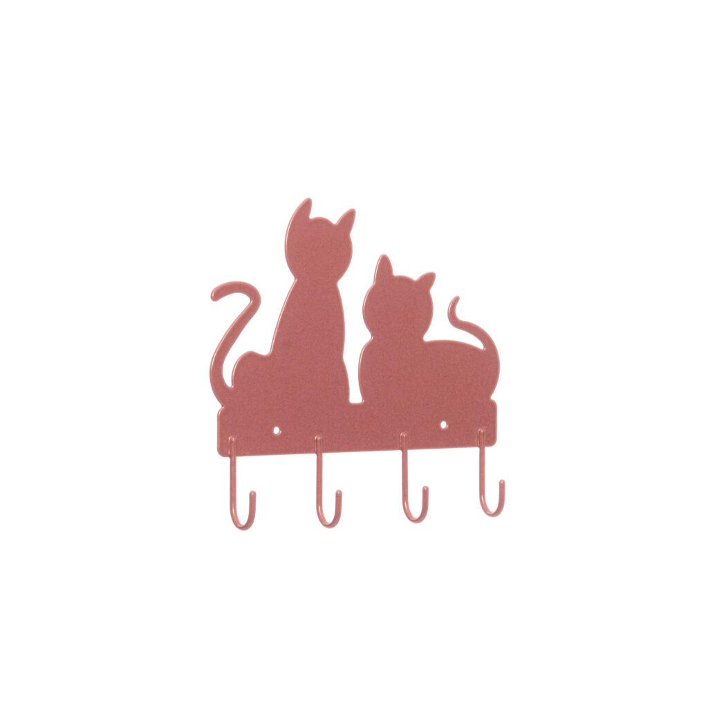 Gancho de parede aramado Gato