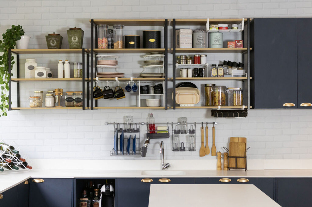 Organizadores aramados de cozinha