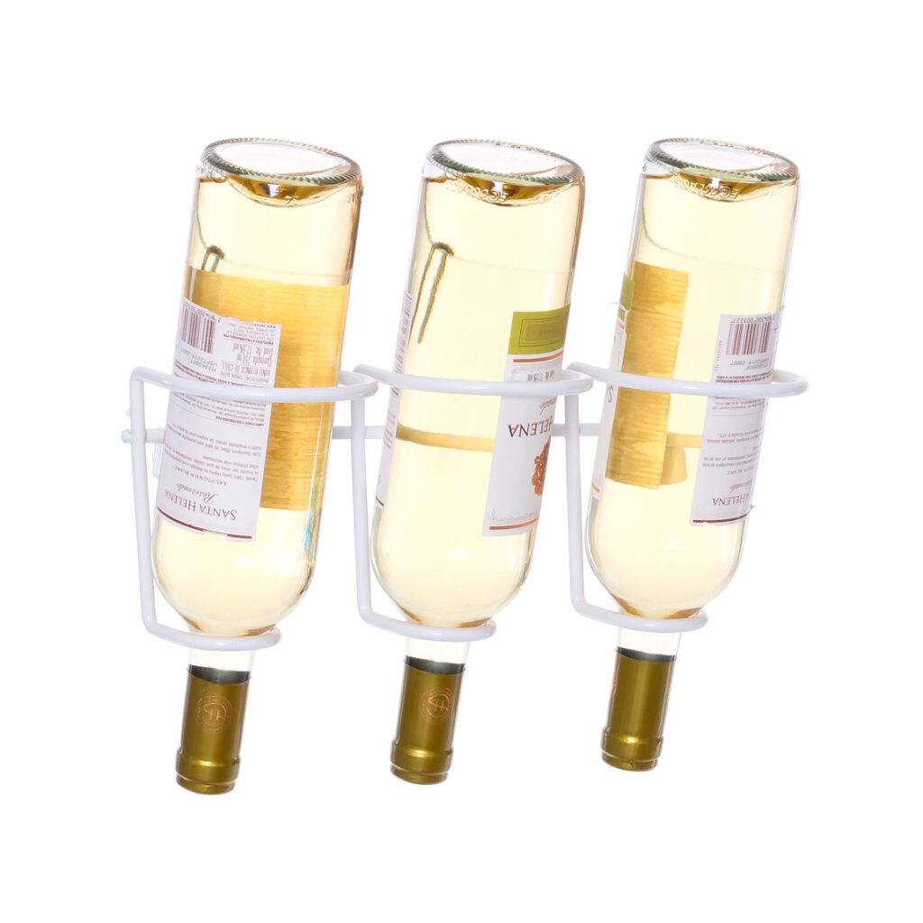 Garrafeiro decorativo aramado Blanc para 3 garrafas