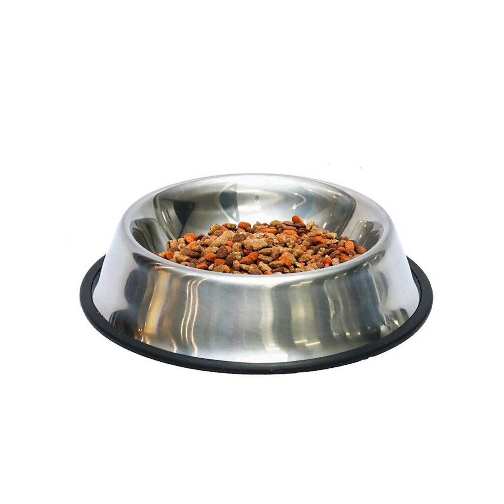 Comedouro para pet em aço inox 26 cm - Metalic