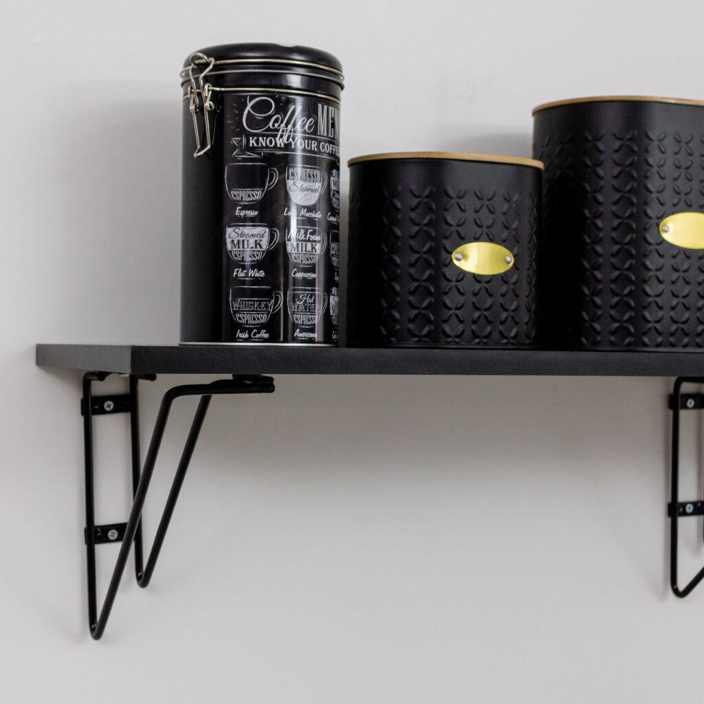 Prateleira Decorativa Grande Aramado com madeira Smart