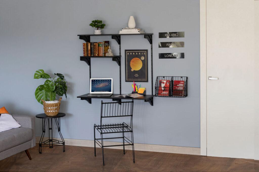 Combo para escritório 1 metro - 3 peças - Home Office