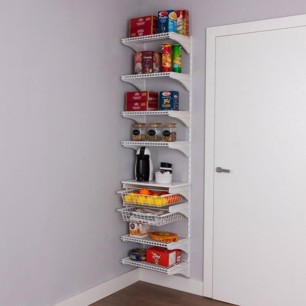 Armário aramado kit 38 - Cozinha e despensa pequena