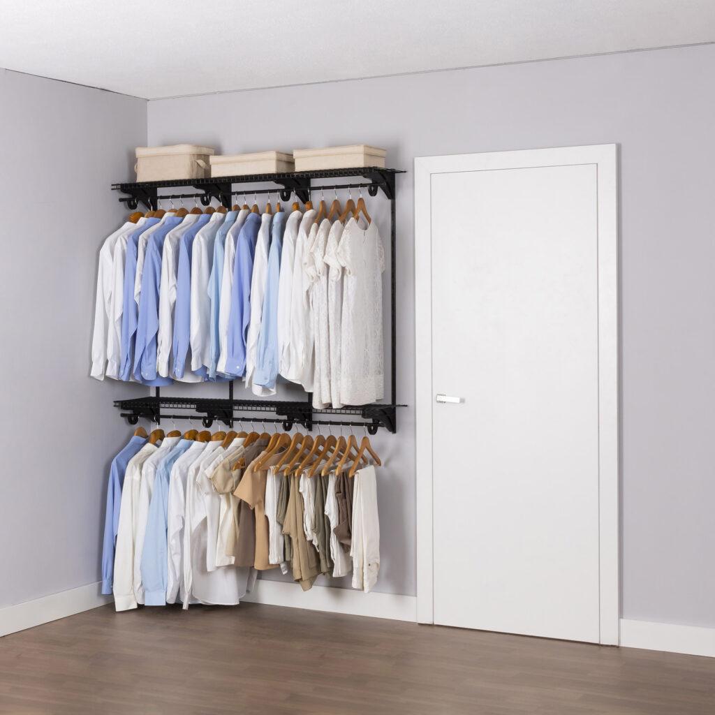 Armário aramado kit 41 - Cabideiro para closet ou quarto médio
