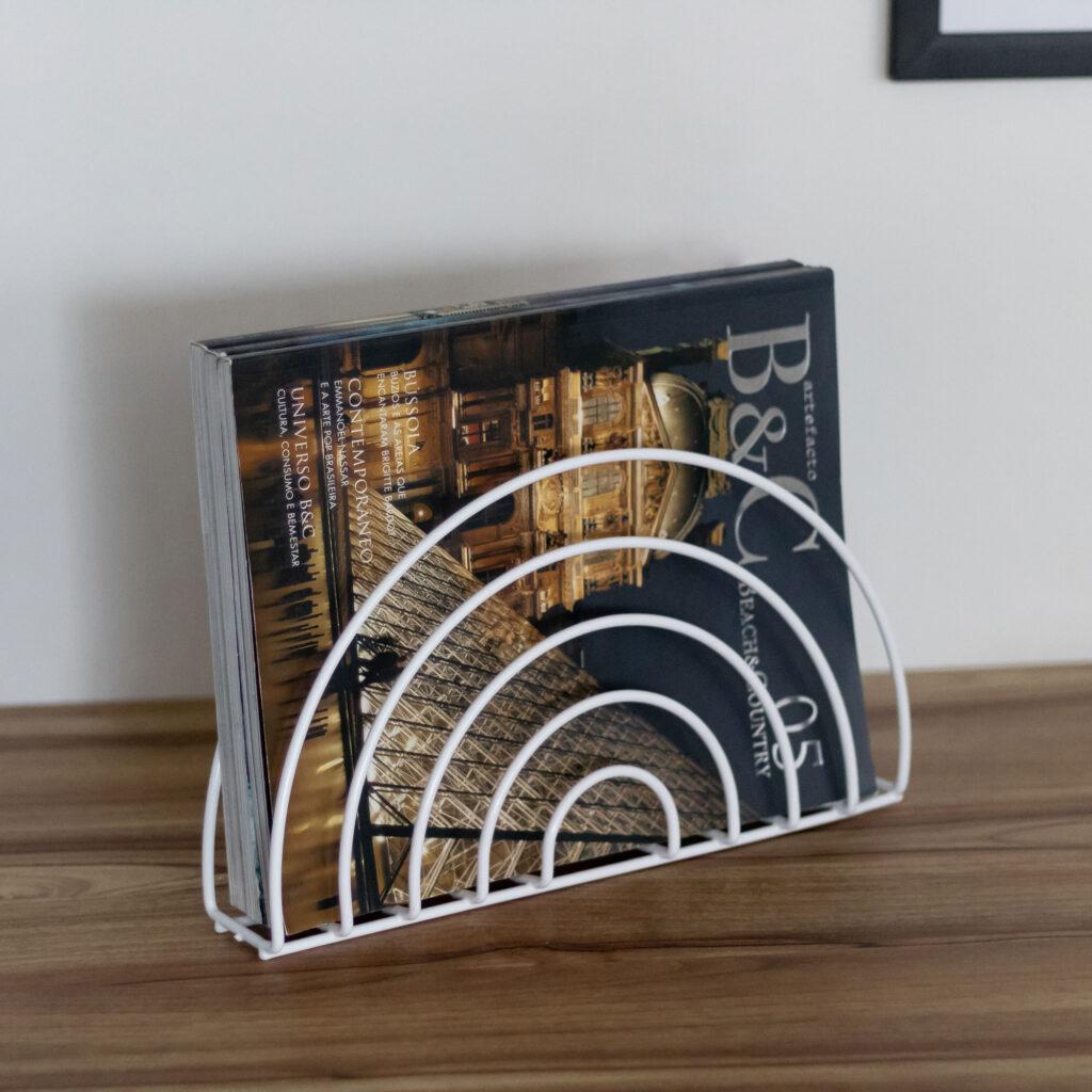 Porta Revistas Arco Aramado