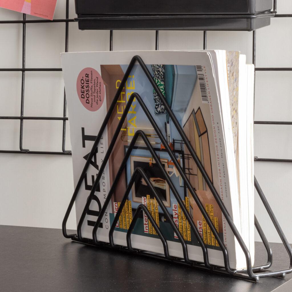 Porta Revistas Triangular Aramado