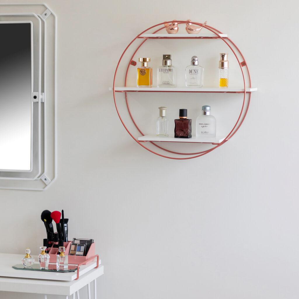 Prateleira Aramada Rústica Decorativa Circular